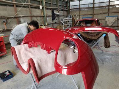 ロードスター・クーペ全塗装 ⑦ 塗装完了。